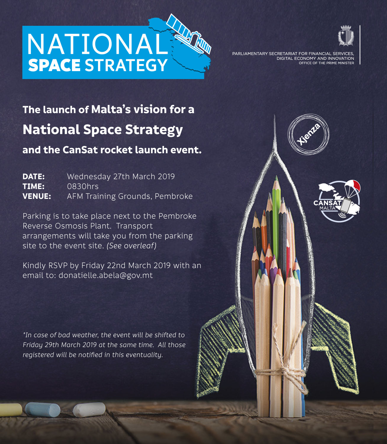 The Launch of Malta's vision for a National Space Strategy
